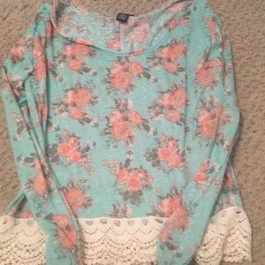 Rue 21 Floral Long Sleeve